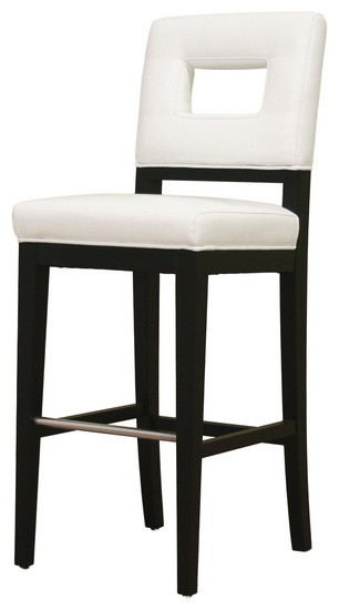 Baxton Studio Faustino Leather Barstool Transitional