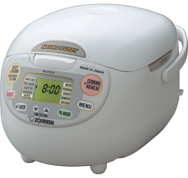 Zojirushi Neuro Fuzzy Rice Cooker And Warmer, 10-Cup.