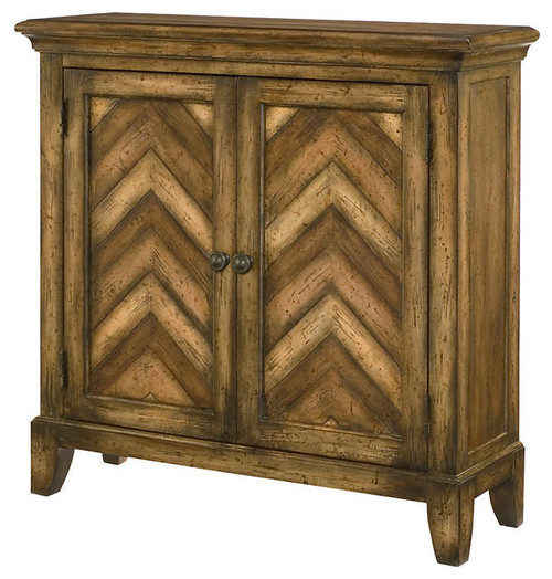 Hidden Treasures Chevron Chest by Hammary, Walnut