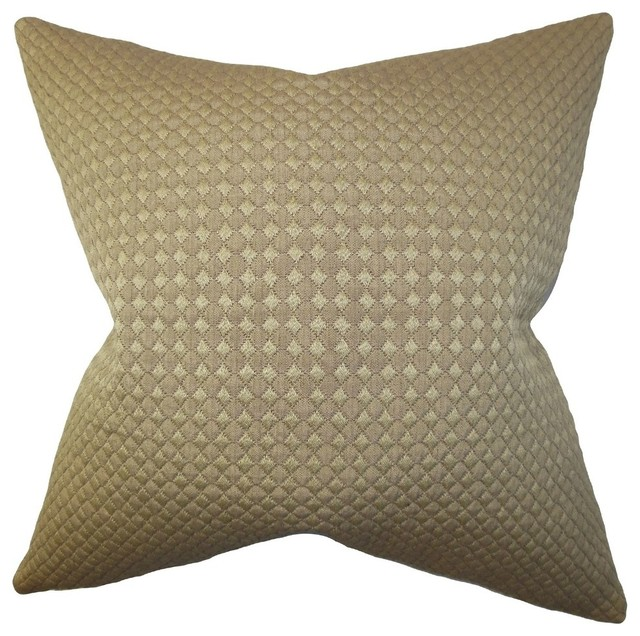 "Cessair Solid Pillow Olive Green, 22""x22""."