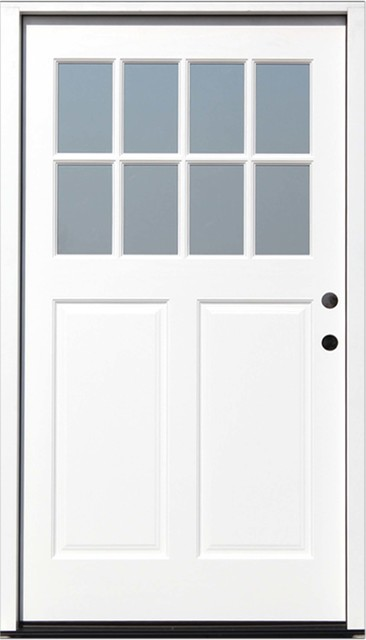 42 X80 Cottage Prefinished White Prehung Exterior Front Door Left Hand Contemporary Doors By Creative Entryways