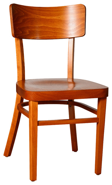 Simple Wood Chairs, Set Of 2, Cherry.