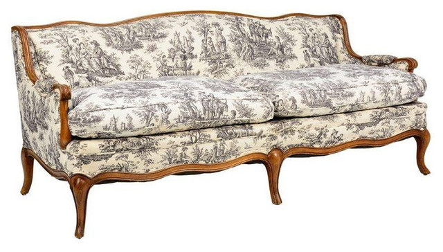 toile de jouy french provincial style sofa rh houzz co uk french provincial sofas for sale french provincial sofa bed