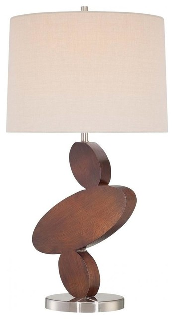 Table Lamp, Walnut+brushed Nickel.