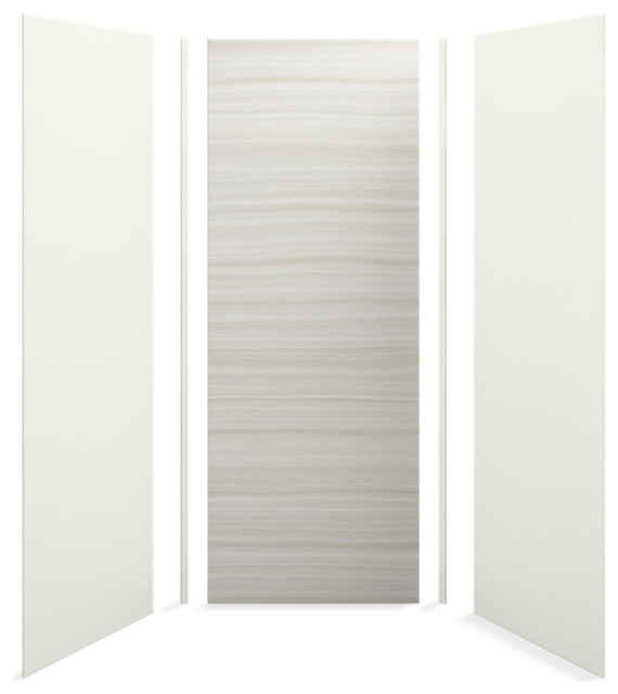 "Kohler Choreograph 36"" X 36"" X 96"" Shower Wall Kit, Veincut Dune"