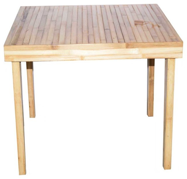 Bamboo Square Table: Baroque Bamboo Square Dining Table