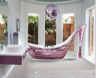 Icons Mosaic Shoe Bathtub eclectic bathtubs
