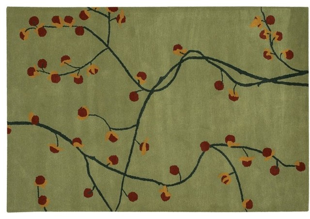 Chandra Rugs Sage Green Hand Tufted Contemporary Kathryn Contemporary Area   Rugs