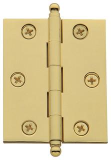Baldwin 1093152I Steeple Tip Matte Hinge Antique Nickel