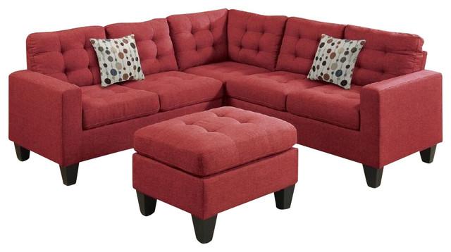 4 Piece Modular Sectional Sofa And Ottoman Contemporary