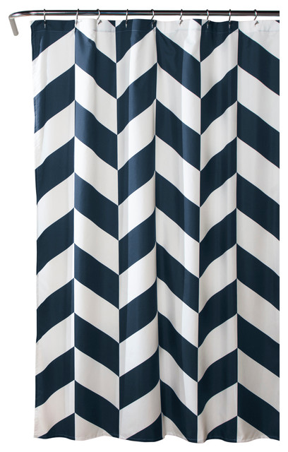 jigsaw navy chevron shower curtain shower curtains by