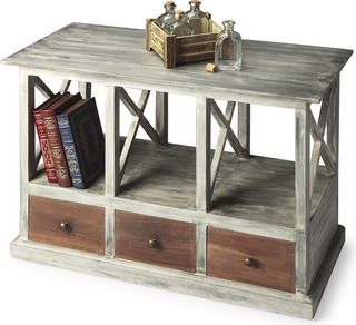 Butler Transitional Console Table, Driftwood