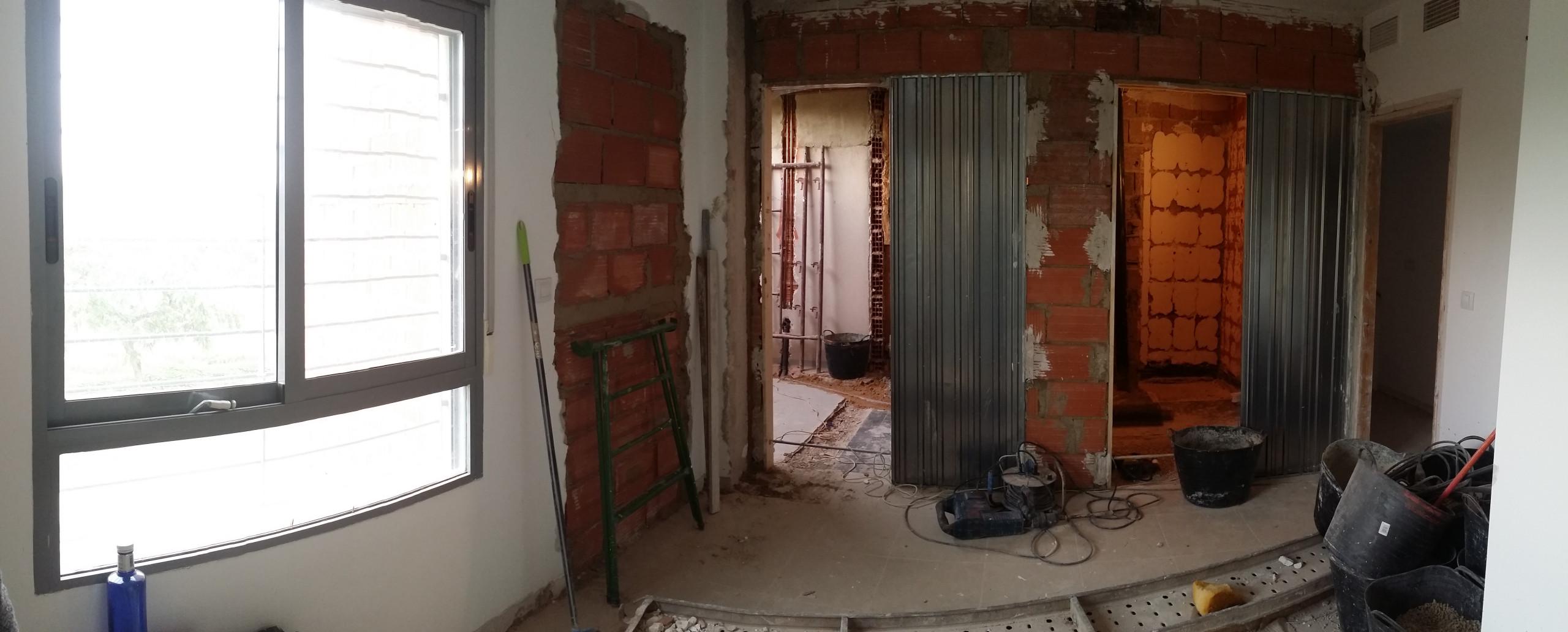 Proceso obra - Planta 1ª (Dormitorio principal, vestidor, baño)
