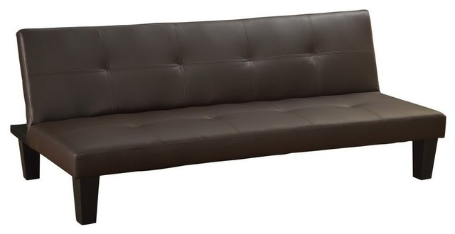 Awe Inspiring Modern Convertible 3 Seater Futon In Faux Leather With Wooden Frame For Support Creativecarmelina Interior Chair Design Creativecarmelinacom