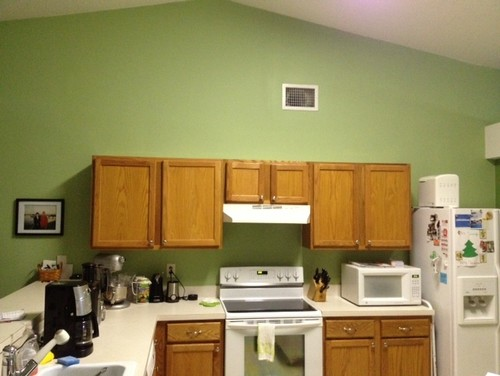 Sloped Ceilings In Kitchen And Cabinets