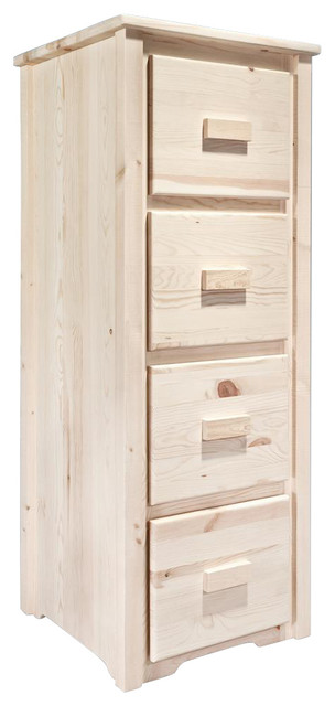 File Cabinet with 4 Drawers rustic-filing-cabinets