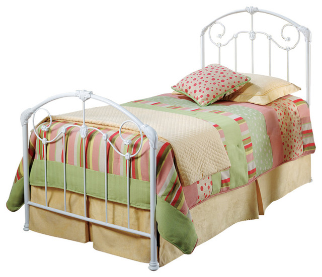 Maddie bed headboard footboard set rails not included Twin bed with mattress included