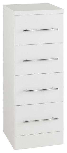 Impakt White Cabinet, 4-Drawer, 300x300 mm