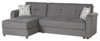 Vision Diego Gray Sectional Sofa by Sunset International
