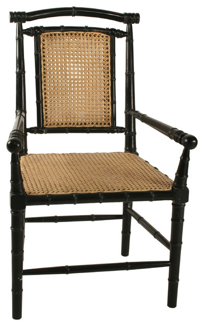 Colonial Bamboo Armchair Asian Dining Chairs By Noir