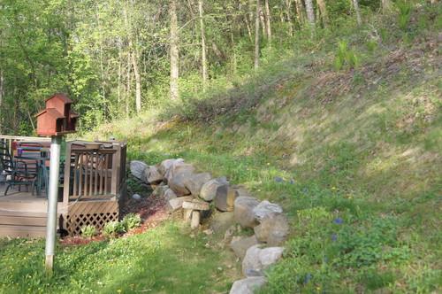 Sloping backyard design help on Uphill Backyard Landscaping Ideas id=94527