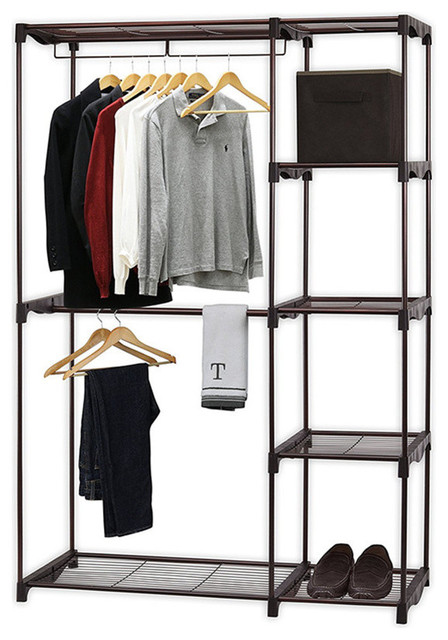 Freestanding Portable Cloths Storage Utility Closet Organizer