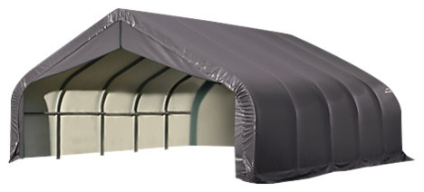14&x27;x20&x27;x12&x27; Round Style Shelter, Gray.
