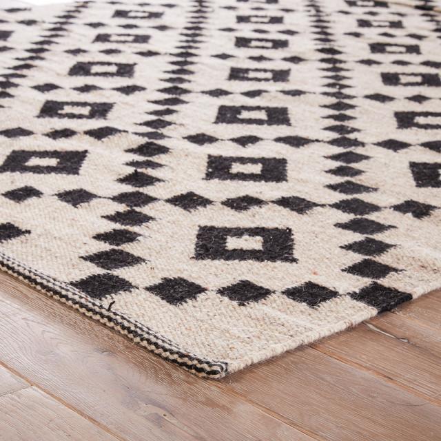 Jaipur Living Croix Handmade Geometric Black White Area Rug