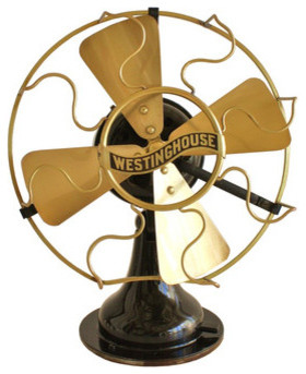 1910 Westinghouse Electric Brass Fan