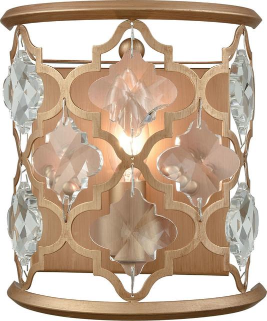 Elk Lighting Armand 1-Light Wall Sconce, Matte Gold