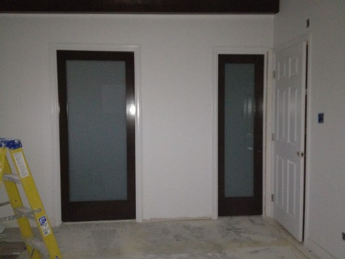 I Am Remodeling My Bathroom/bedroom. I Have 2 Pocket Doors With Frosted Glass, One For The