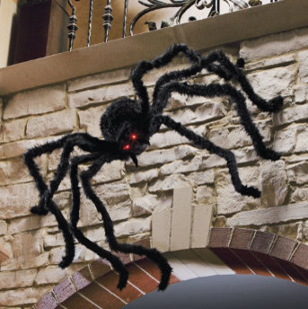 6 halloween spider with flashing eyes halloween decorations and decor traditional holiday - Halloween Spider Decoration
