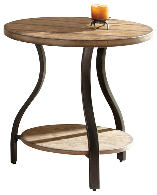 Steve Silver Denise 24x24 Round End Table Transitional Side Tables And End