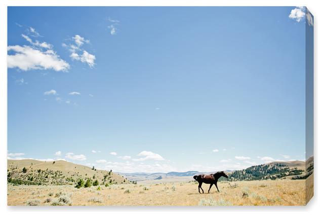 Amazing Oliver Gal Chase The Horse Ii Cassandra Eldridge Canvas Art 15X10 Machost Co Dining Chair Design Ideas Machostcouk