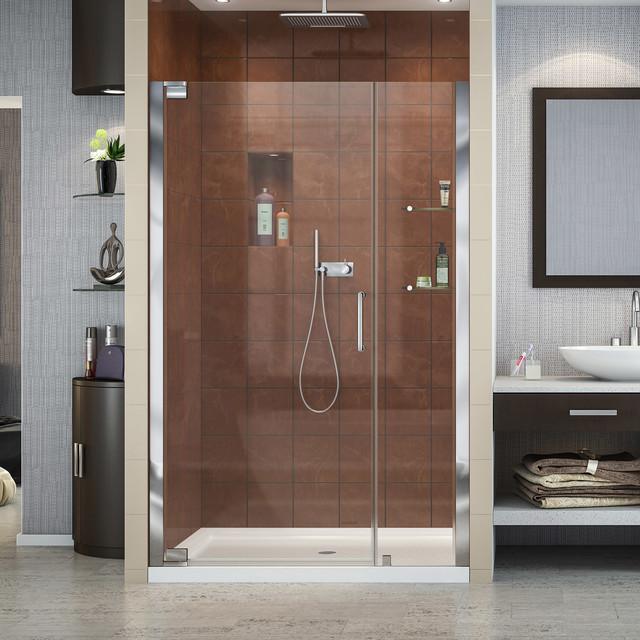DreamLine Elegance Frameless Pivot Shower Door and SlimLine 32\