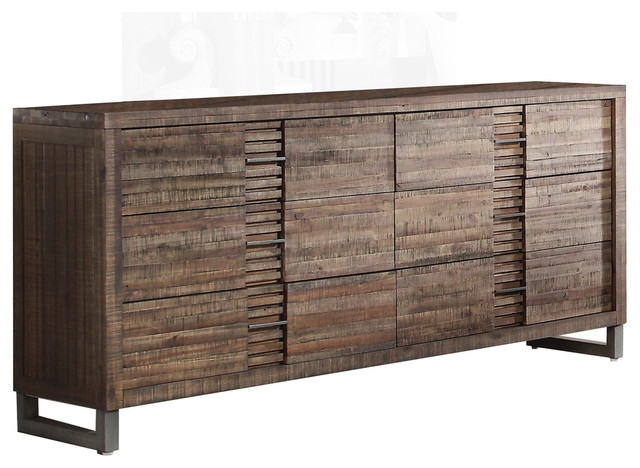 Acme Furniture   Andria Dresser, Reclaimed Oak   Keep Your Wardrobe  Organized With The Rustic
