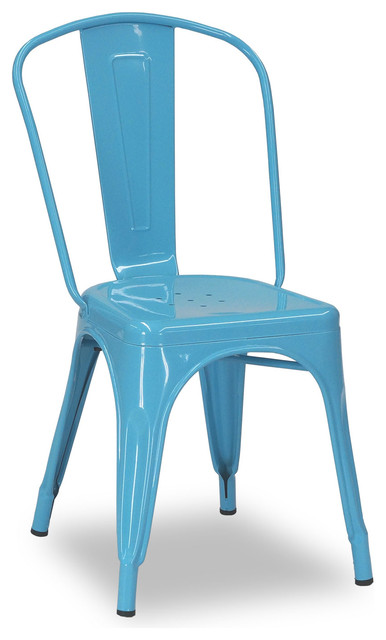 Tolix chair blue modern dining chairs brisbane by for Modern dining chairs australia
