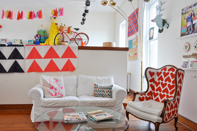 My Houzz: Craftiness and Color in 3 Charming Virginia Spaces eclectic