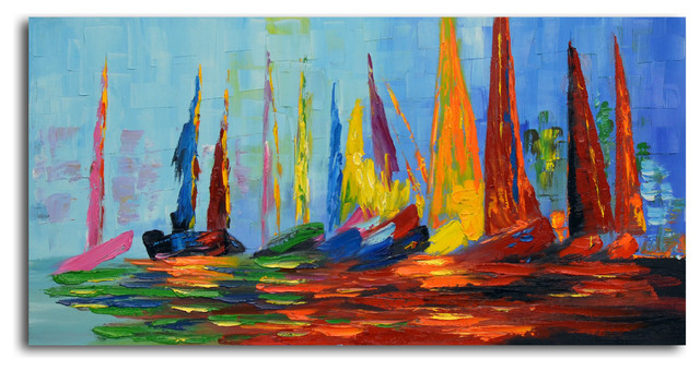 """Vibrant Sea Day"" Original Oil Painting on Canvas"