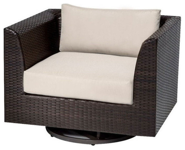 tk classics barbados outdoor wicker swivel chair beige outdoor