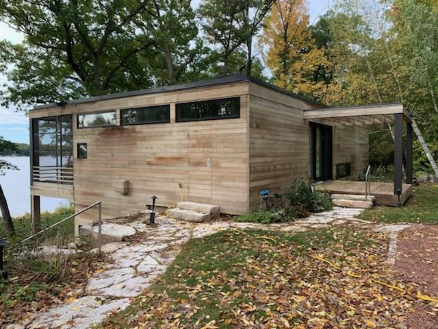 Green Lake Exterior Staining - In Process