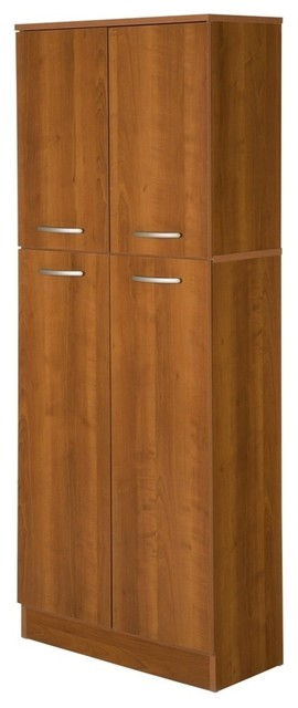 South Shore Axess 4-Door Storage Pantry, Morgan Cherry.