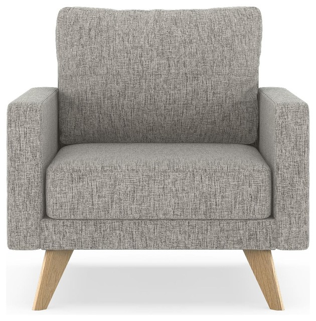 Cayden Armchair Pebble Weave, Heathered Taupe.