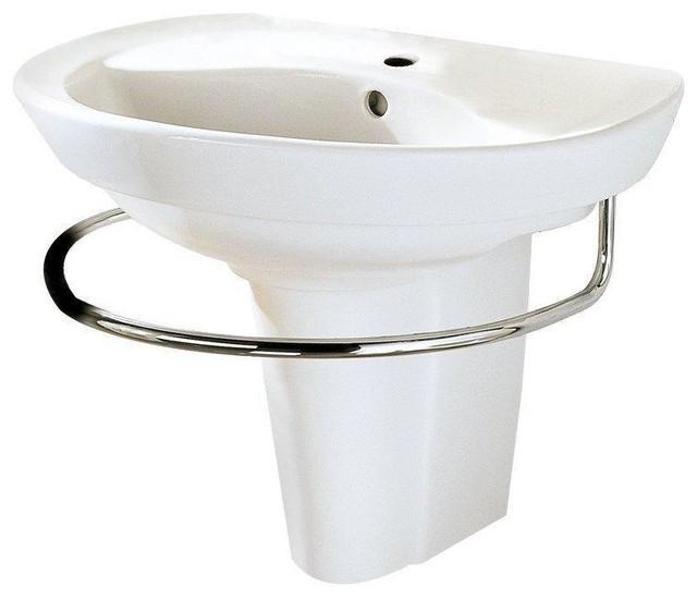 American Standard 0268.144.020 Ravenna Wall-Mount Pedestal Sink With Center....