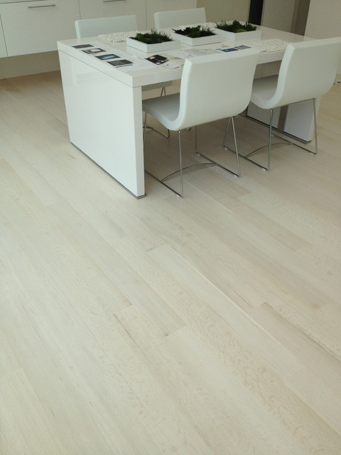 Bleached Red Oak Flooring Modern