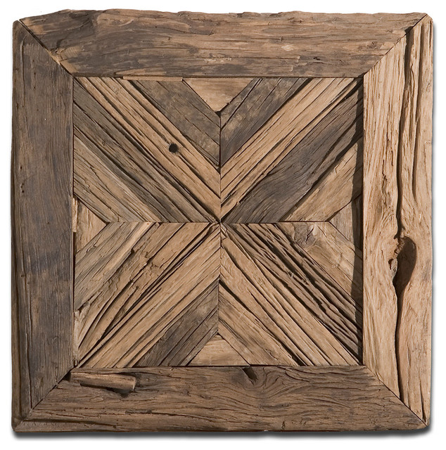Uttermost Luxe Pine Reclaimed Wood Wall Art. -1