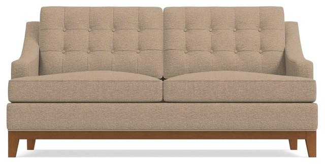 "Bannister Apartment Size Sofa, Beige, 60""x41""x34""."