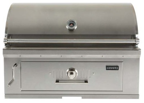 "Coyote 36"" Built-In Charcoal Grill."