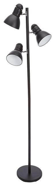 Elegant Three Light Black Tree Lamp.