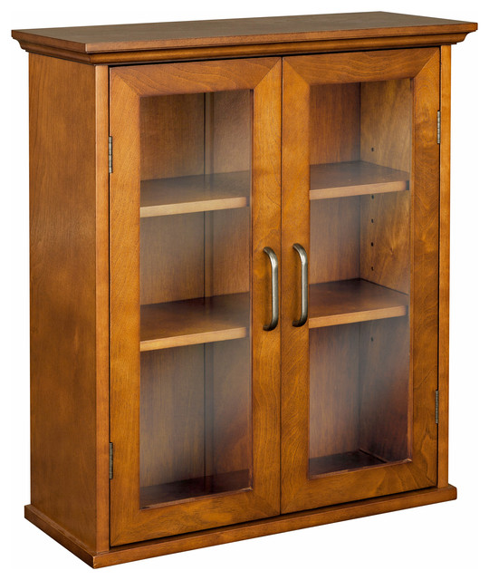 ... Doors -Wood veneer with Oil Oak finish transitional-medicine-cabinets